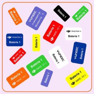Etiqueta batería para drones