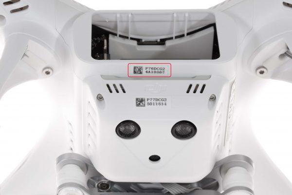 ¿Dónde está el Número de Serie de mi Dron?