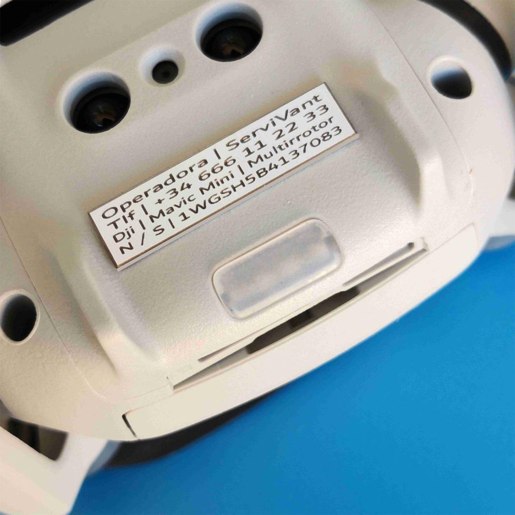identificar tu dron
